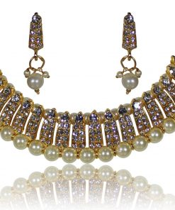 Choker pearl Necklace with AD