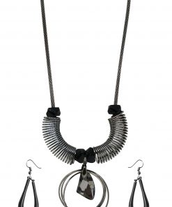Crafinart Silver Oxidized Spring Jewellery Sets for Girls & Women