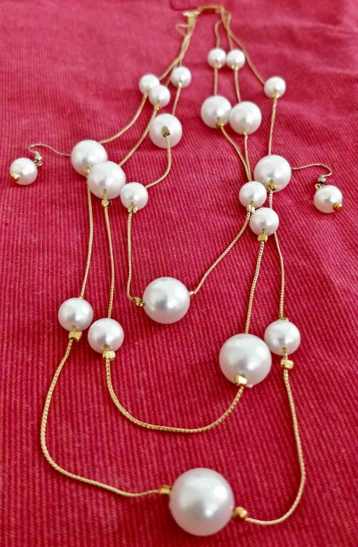 Crafinart Traditional and Pearl Necklace Sets with Earrings Jewellery for Woman
